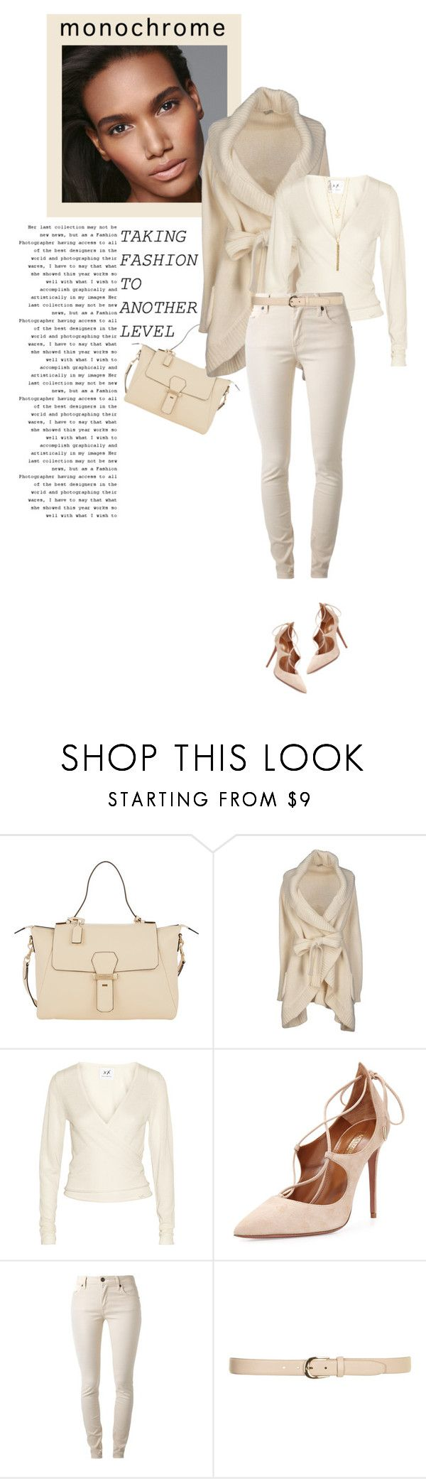 """One Color, Head to Toe"" by marion-fashionista-diva-miller ❤ liked on Polyvore featuring Smythson, H&M, Le Ragazze Di St. Barth, Banjo & Matilda, Aquazzura, Burberry, Dorothy Perkins, BERRICLE and monochrome"