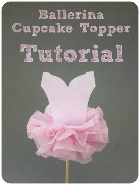 Ballerina Party Cupcake Topper and so many more GREAT DIY party ideas!