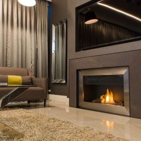 Beautiful Modern Open Wall Fire Surround Design