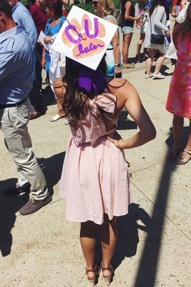 Graduation 2015 Clemson University grad cap