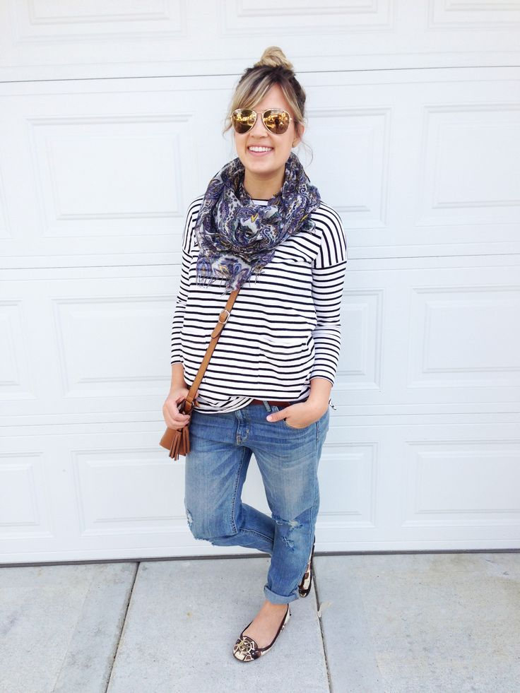 Perfectly relaxed, Stripes + Boyfriend Jeans – Thoughts By Natalie