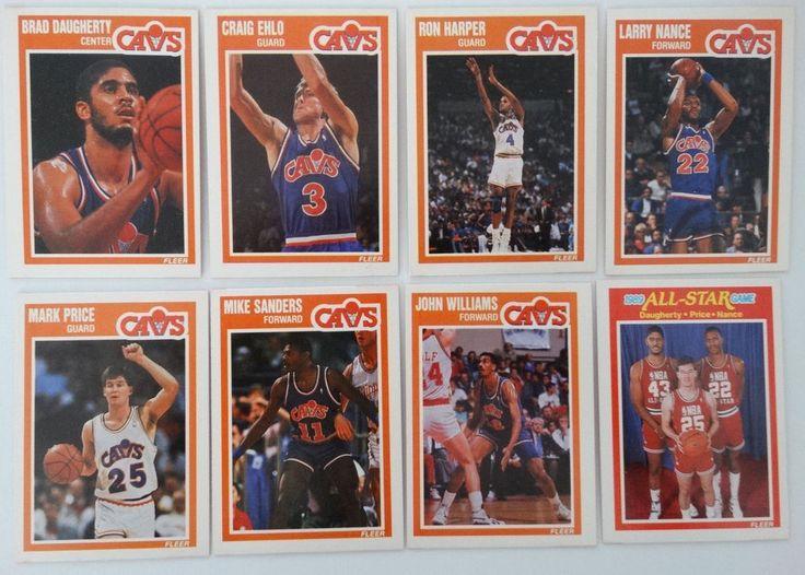 1989-90 Fleer Cleveland Cavaliers Team Set Of 8 Basketball Cards #ClevelandCavaliers