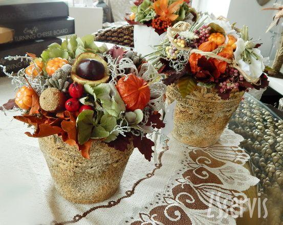 Sezonní aranžmá | Sušinové podzimní aranžmá | ZSservis květiny Hlučín