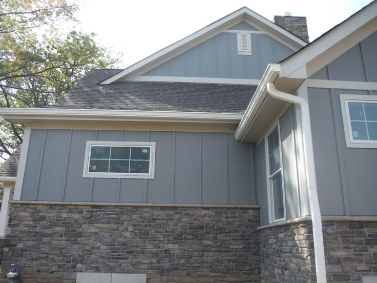 Side Of The House In Hardie Board And Batten Gray Slate