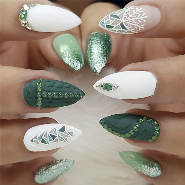 50+ süße Macaron Stiletto Nails Designs für die Wintersaison – Nägel / Nails