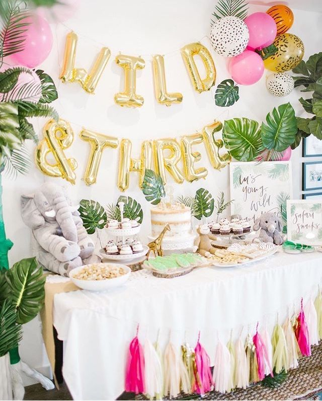 Young Wild And Three 3rd Birthday Party For Girls Third