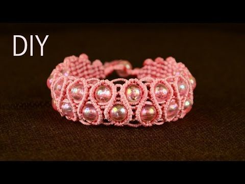 Amazing Macramé Heart Bracelet Tutorial ❤ - YouTube