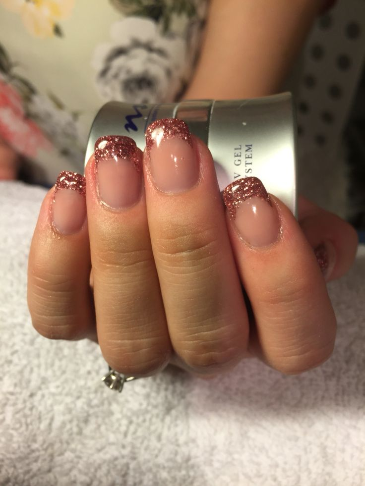 Glitter tip gel - BeautyForYou_bliny @ instagram / Facebook #nails #glitter #tip