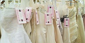 Brides Against Breast Cancer: buy a wedding gown with proceeds going towards breast cancer patients and outreach.  Or donate your gown after your wedding!