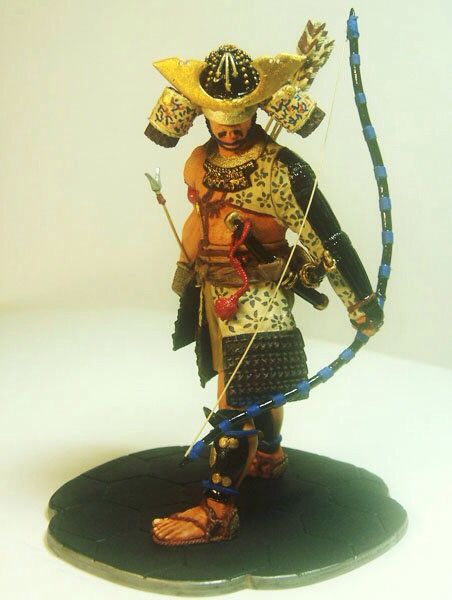 120 mm white metal figure, japanese samurai by ademodelart