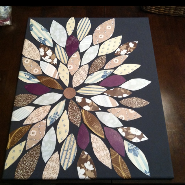 Canvas, scrapbook paper= easiest project yet!