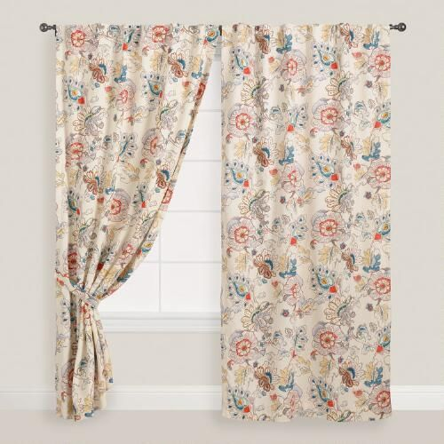One of my favorite discoveries at WorldMarket.com: Multicolored Corinne Concealed Tab Top Curtains