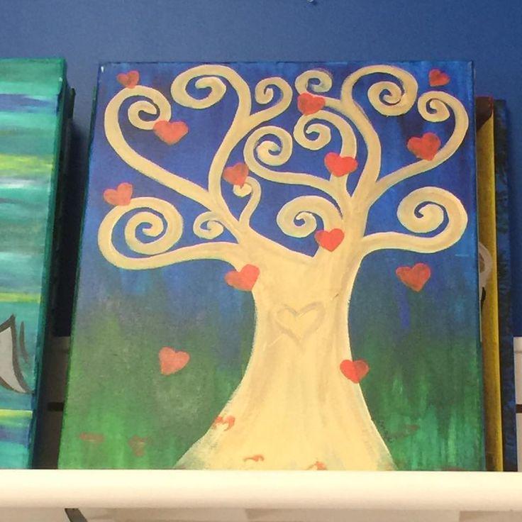 heart tree 221 best Canvas Adult Ideas