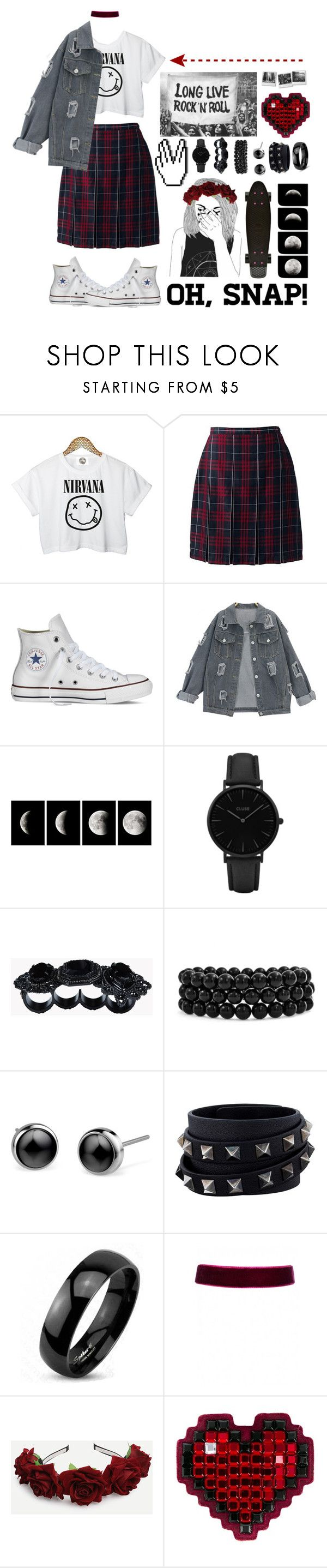 """Long live rock n' roll"" by galaxygirl12427 ❤ liked on Polyvore featuring CC, Lands' End, Converse, WALL, CLUSE, Dsquared2, Bling Jewelry, Valentino, West Coast Jewelry and Anya Hindmarch"