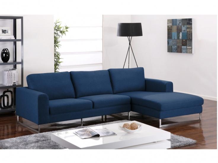 Attirant Canape D Angle Bleu #4: Canapé Dangle Tissu QUADRICO - Bleu Nuit - Angle Droit | Les Irrésistibles  | Pinterest | Salons