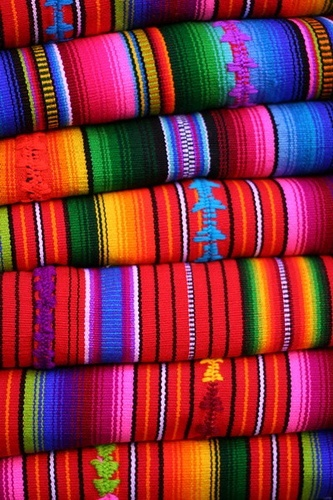 striped fabrics in Guatemala