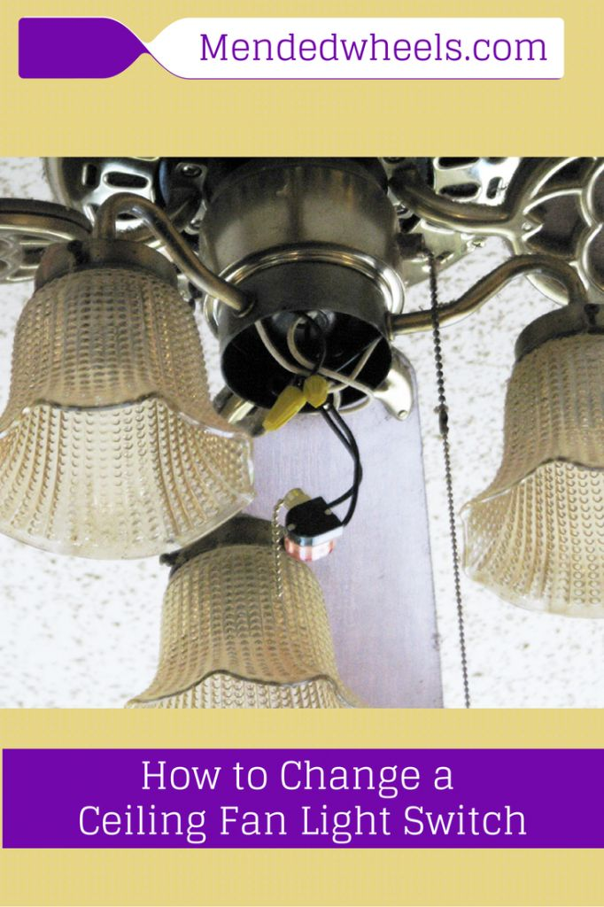 How to replace the switch on a ceiling fan pull chain