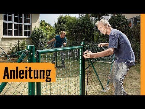 Maschendrahtzaun bauen | HORNBACH Meisterschmiede