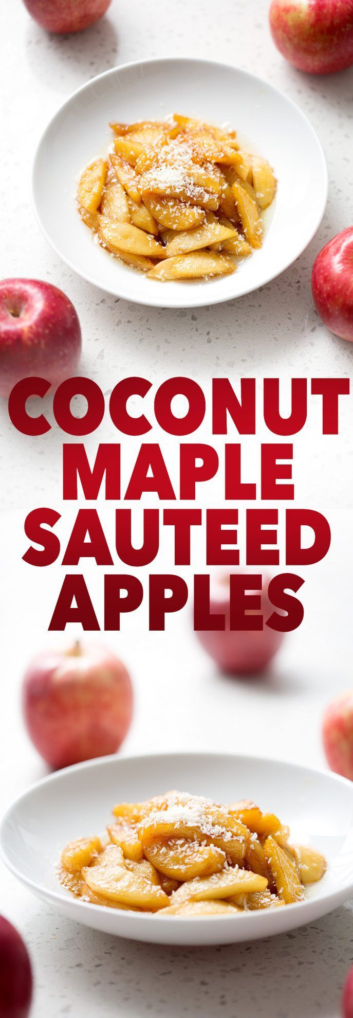 Deliciously simple 5-ingredient recipe for Coconut Maple Sautéed Apples will satisfy your sweet tooth. This recipe is allergy friendly (gluten, dairy, shellfish, nut, egg, and soy free) and suits the autoimmune protocol (AIP), paleo and vegan diets.