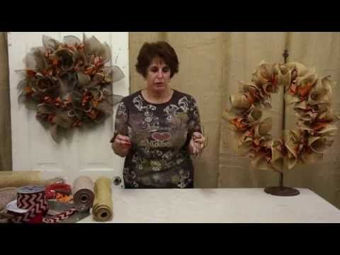 Deco Mesh Ruffle Wreath Tutorial - YouTube