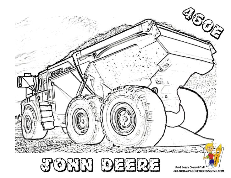 john deere christmas coloring pages - photo#6
