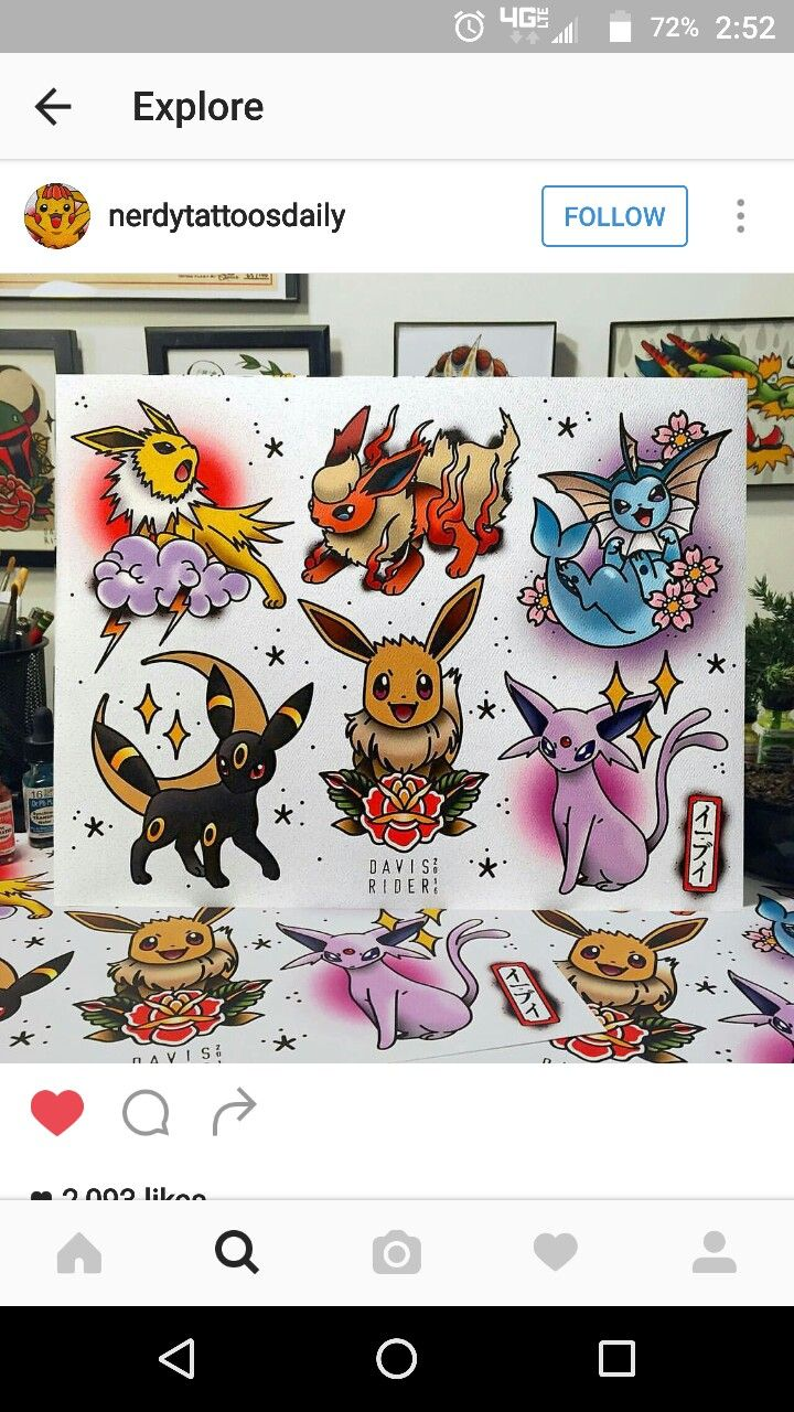 Pokemon Tattoo Ideas found via IG