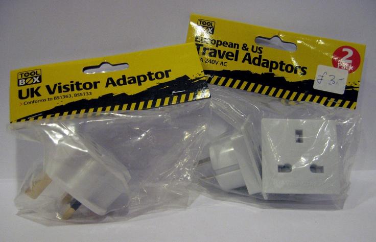 UK Visitor Adaptor & European / US Travel Adaptors £3.00