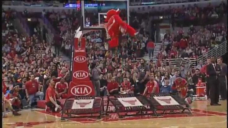 This Mascot is Amazing!!! So Funny! :D Benny the Bull 2013-14