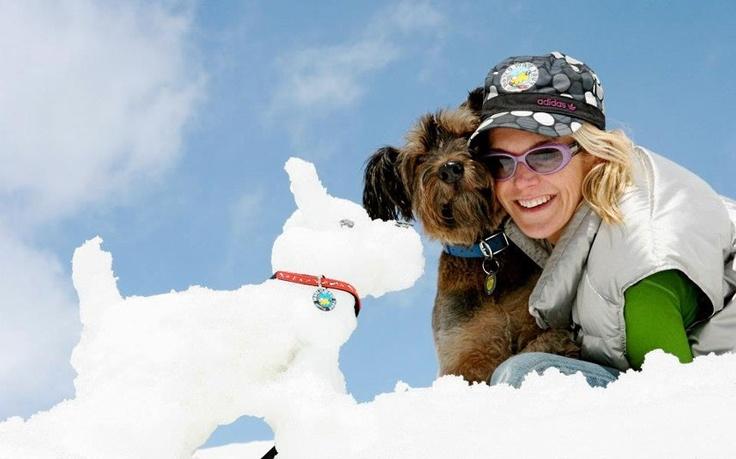 Oscar in a ski resort