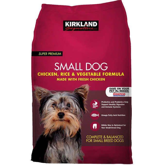 Kirkland Signature Small Formula Chicken Vegetable Dog Food 20