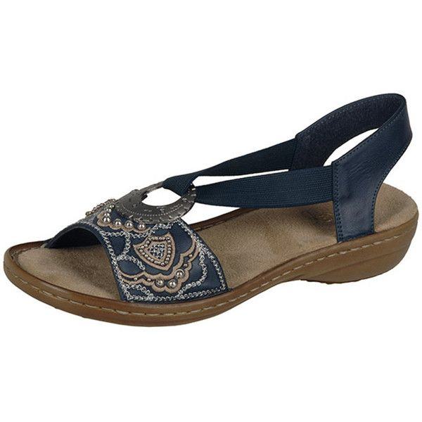 Slip into stylish comfort with the Rieker Regina B9 sandal. This chic  women's open-