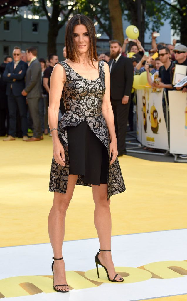 Sandra Bullock looked better than ever when she walked the yellow carpet at the London premiere of Minions on June 11. See more photos from her first red carpet appearance in over a year!