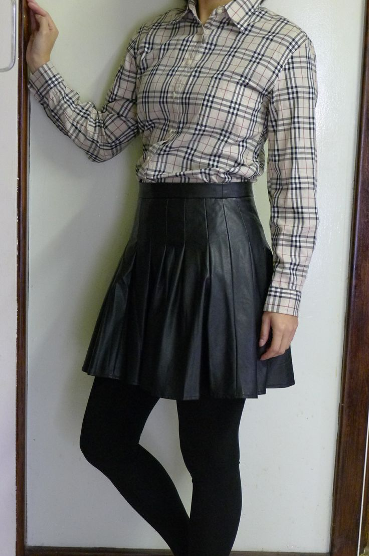 Pleated + Plaid