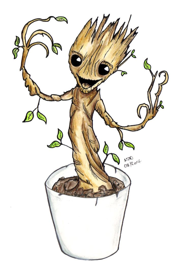 Baby GROOT In A Pot… Yes… I Said Baby GROOT in A Pot… #IAMGROOT ...