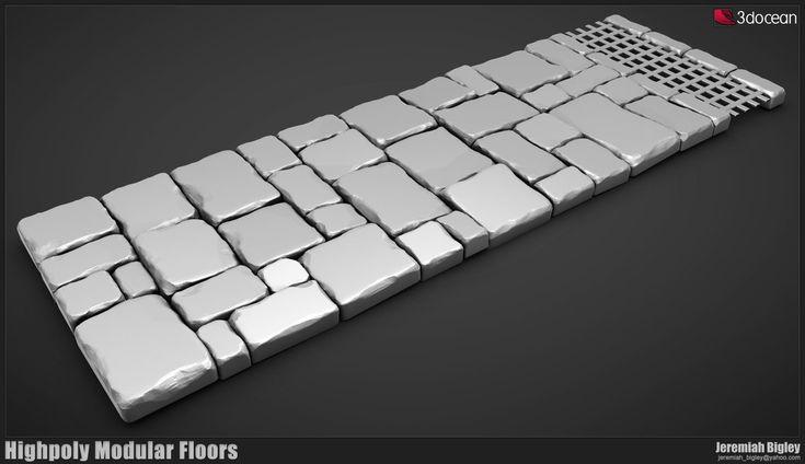Modular Dungeon Highpoly Floor by JeremiahBigley on deviantART