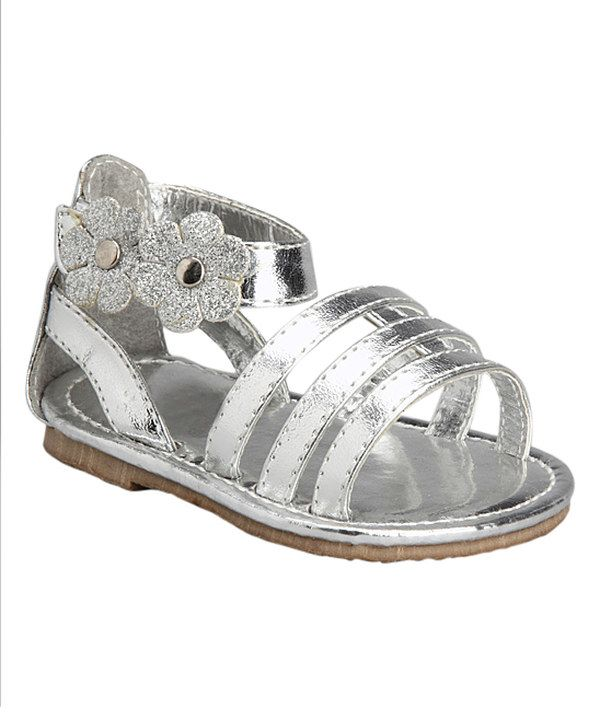 Look at this Xeyes Silver Strappy Sandal on #zulily today!