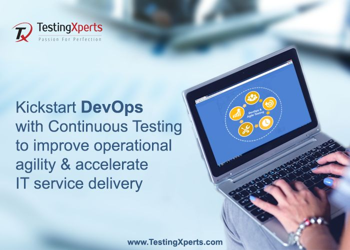 Striving hard to #achieve better #collaboration between your #IT teams?  Integrate #development & #operations in the same #cycle with #continuous #integration, #testing, and #delivery to #accelerate #operational #agility and software's time-to-market. #TestingXperts has extensive expertise in delivering #Test services in the #DevOps cycle. We help you #break down the traditional silos and better collaborate your business, development, operations and testing teams
