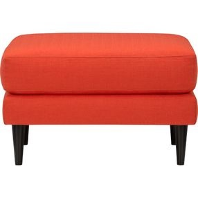 parlour atomic orange ottoman - parlour ottoman in atomic orange