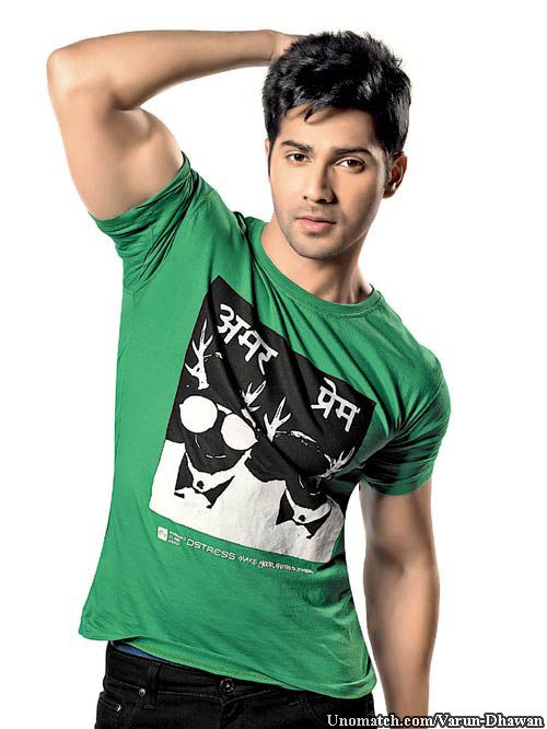Varun Dhawan was born on 24 April 1987 in Mumbai to film director David Dhawan and Karuna Dhawan. He is the younger brother of director Rohit Dhawan, nephew of actor Anil Dhawan and cousin of actor Siddharth Dhawan.  like : http://www.Unomatch.com/Varun-Dhawan/