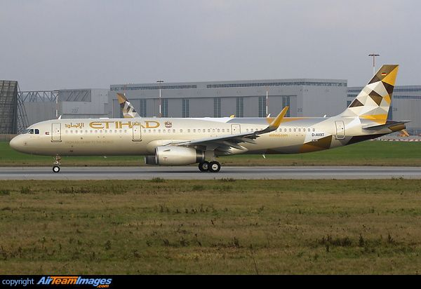 Etihad Airways Airbus A321-First single-aisle aircraft in the new Etihad Airways livery