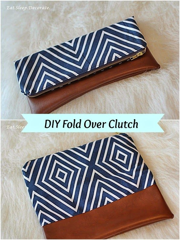 Eat. Sleep. Decorate.: {DIY} Fold Over Clutch