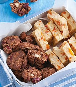 Apricot and coconut biscuits and Country Fresh