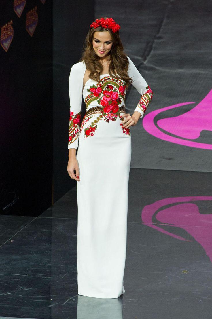 2013 Miss Universe National Costume Show -- Paulina KrupinÌska, Miss Poland 2013, models in the National Costume contest at Vegas Mall on November 3, 2013. (Credit: Darren Decker/Miss Universe)