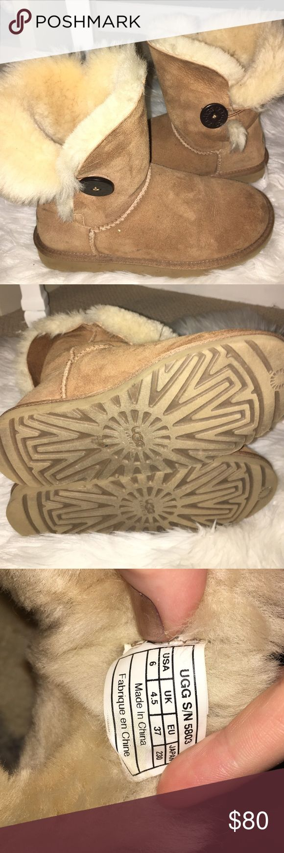 Bailey button uggs chestnut size 6! Chestnut Bailey button uggs in great condition! Only worn a handful of times! UGG Shoes Winter & Rain Boots