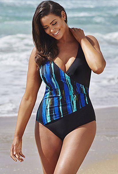c0adbb812b 55 Plus Size Summer Clothes To Rock This Season #tankini #swimsuits  #pieceswimsuit #swimwear