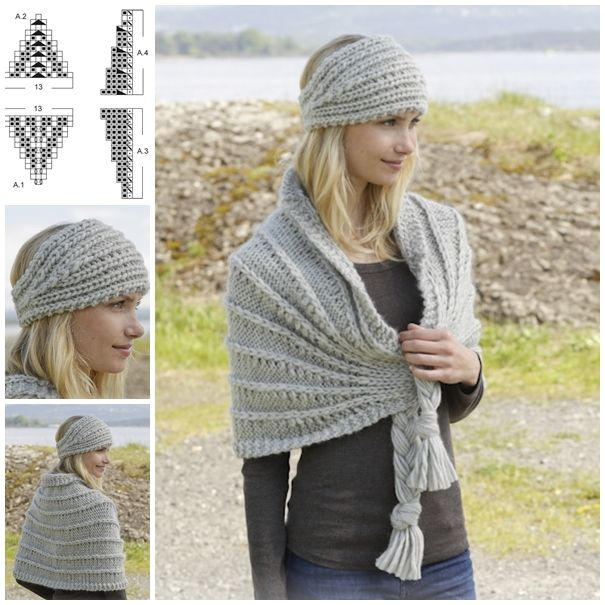 Elegant Knitted Headband and Shoulder Piece Set !  Free pattern--> http://wonderfuldiy.com/wonderful-diy-knitted-headband-and-shoulder-piece-set/
