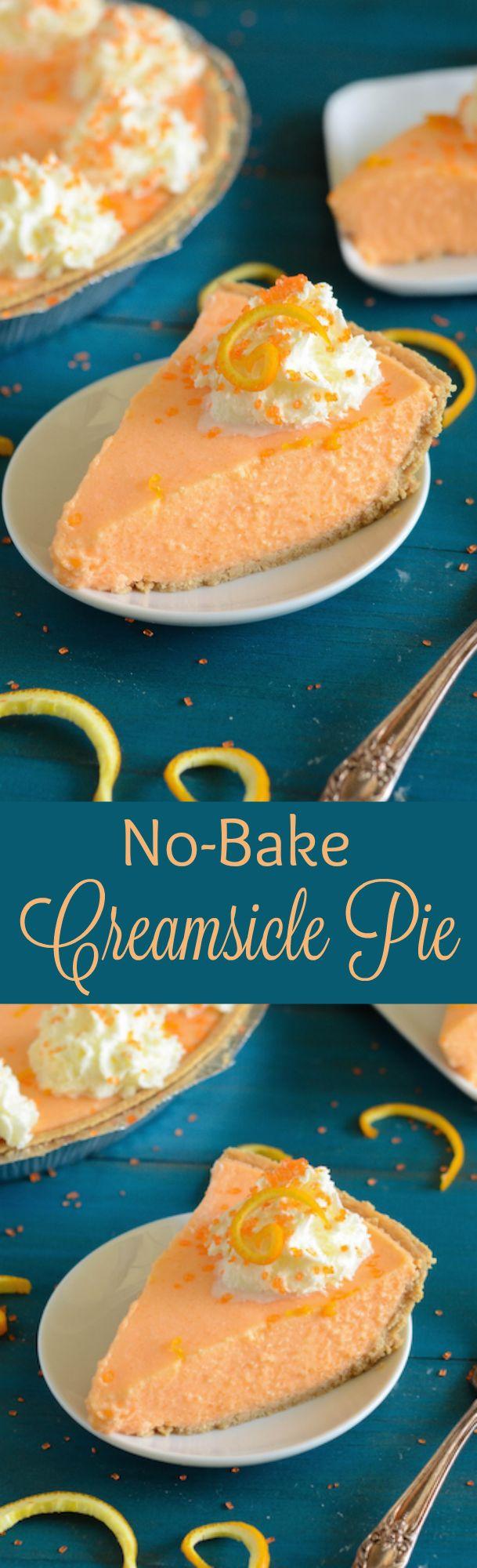 No-Bake Creamsicle Pie!