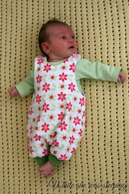 While she was sleeping: Jumpy romper for my baby
