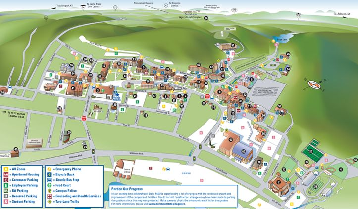 Morehead State University Campus Map