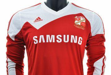 Swindon Town FC 2013/14 adidas Home and Away Kits